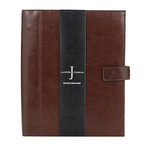 J by Jasper Conran - Designer brown large leather organiser
