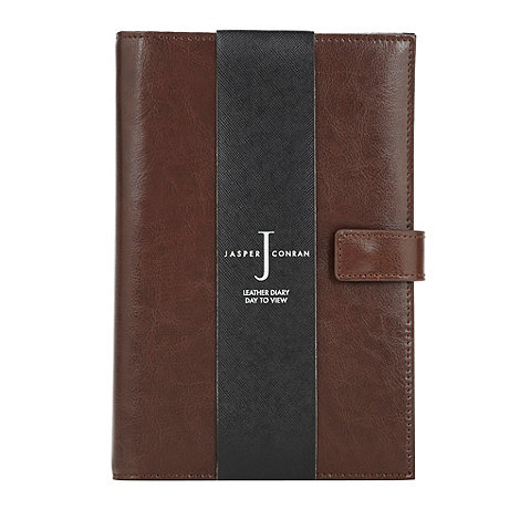 J by Jasper Conran - Designer brown leather day to view diary