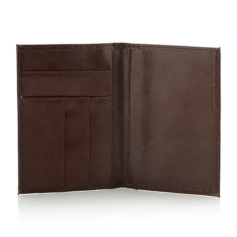J by Jasper Conran - Designer brown leather passport cover