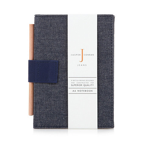 J by Jasper Conran - Designer denim A6 notebook
