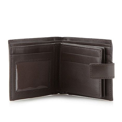 J by Jasper Conran - Designer brown leather double swing wallet
