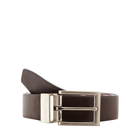 J by Jasper Conran - Designer brown leather reversible belt