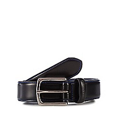 Ben Sherman - Black leather 'Vauxhall' belt