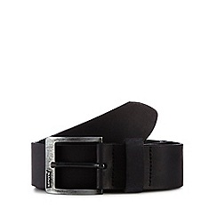 Levi's - Black leather 'Cloverdale' belt