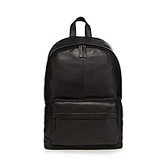 The Eighth - Black leather backpack