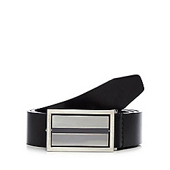 Thomas Nash - Black reversible flip plate belt