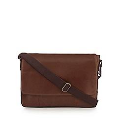 The Eighth - Tan leather 'Samuel' satchel