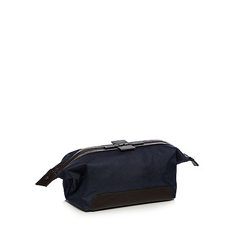 Jeff Banks - Designer navy textured wash bag