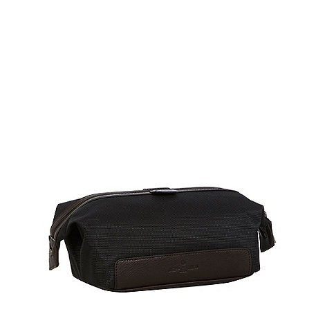 Jeff Banks - Designer black geometric wash bag