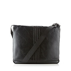 Jeff Banks - Designer black applique striped shoulder bag