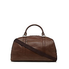 The Eighth - Tan leather 'Spencer' holdall bag
