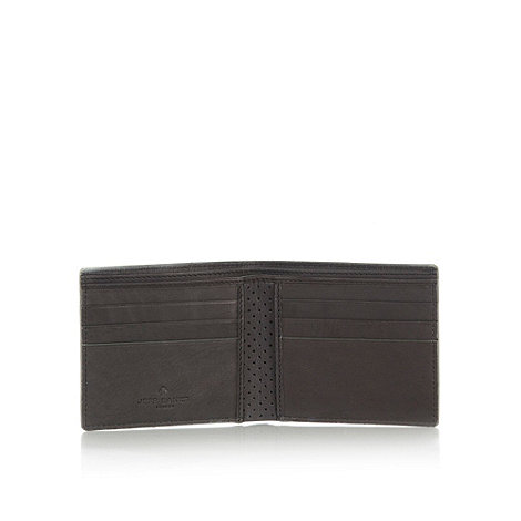 Jeff Banks - Designer dark brown leather embossed wallet