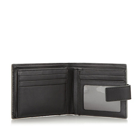 Jeff Banks - Designer black leather fold out wallet