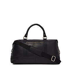 The Eighth - Black 'Theodore' leather weekender bag
