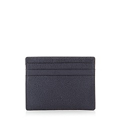 Jeff Banks - Designer navy leather textured card holder