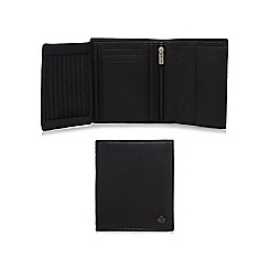 Jeff Banks - Designer black leather trifold wallet