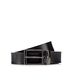 Jeff Banks - Black coated leather belt in a gift box