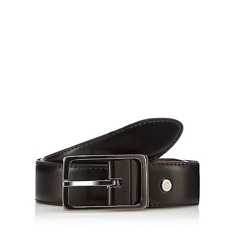 Jeff Banks - Designer black leather reversible belt
