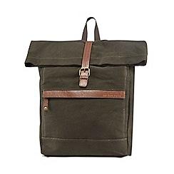 RJR.John Rocha - Green roll top canvas backpack