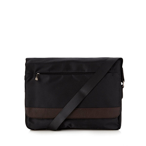 Jeff Banks - Designer black messenger bag