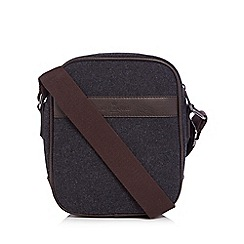 Jeff Banks - Grey wool blend cross body bag