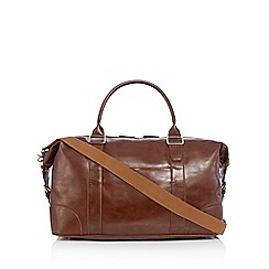 RJR.John Rocha - Tan faux leather holdall bag