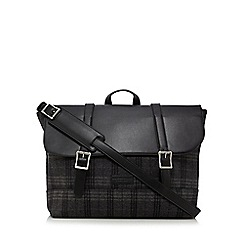 Hammond & Co. by Patrick Grant - Grey checked wool blend satchel