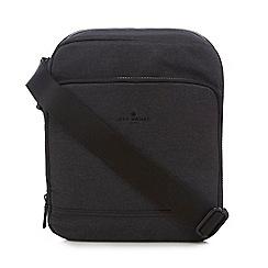 Jeff Banks - Dark grey tablet compartment cross body bag