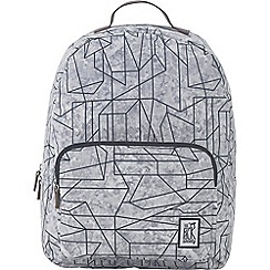 The Pack Society - Grey printed 'Classic' backpack