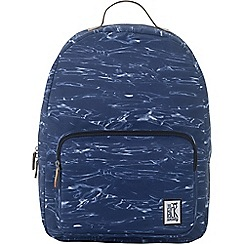 The Pack Society - Blue printed 'Classic' backpack