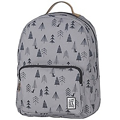 The Pack Society - Grey tree print 'Classic' backpack