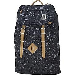 The Pack Society - Black printed 'Premium' backpack