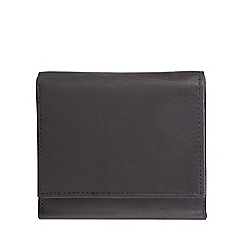 The Collection - Black leather small trifold data protection wallet