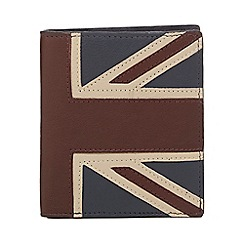 The Collection - Navy leather Union Jack wallet with data protection lining