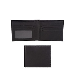 The Collection - Black leather slim data protection lined wallet