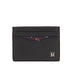 Hammond & Co. by Patrick Grant - Black leather credit card holder with data protection lining