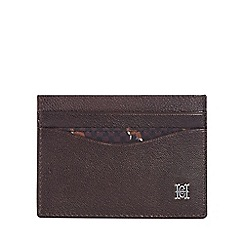 Hammond & Co. by Patrick Grant - Brown leather credit card holder with data protection lining