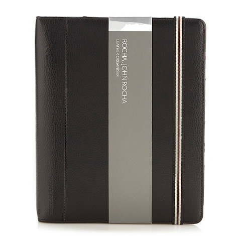 RJR.John Rocha - Designer black leather organiser