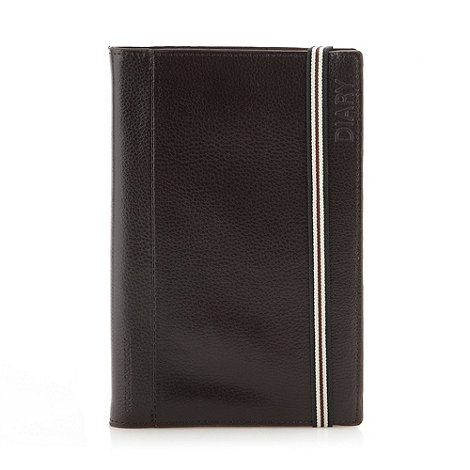 RJR.John Rocha - Designer dark brown leather bound diary