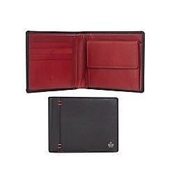 Jeff Banks - Black leather wallet with data protection