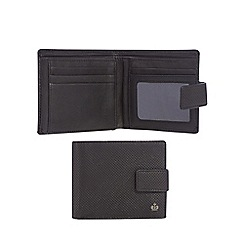 Jeff Banks - Black leather punched wallet with data protection