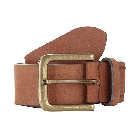 RJR.John Rocha - Designer tan leather stitch belt