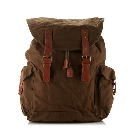 RJR.John Rocha - Designer khaki waxed backpack