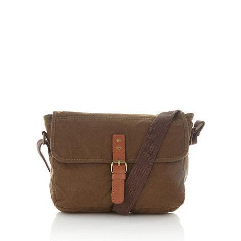 RJR.John Rocha - Designer khaki waxed shoulder bag