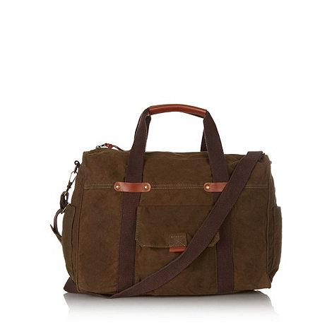 RJR.John Rocha - Designer khaki waxed holdall bag
