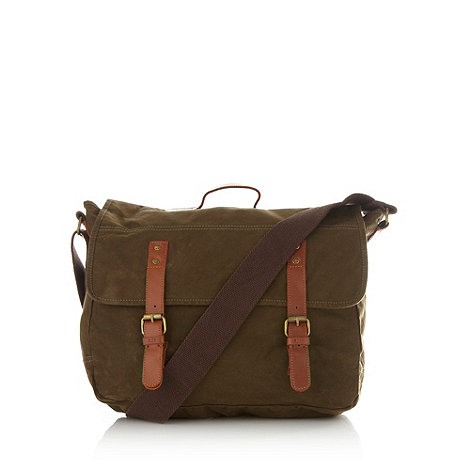 RJR.John Rocha - Designer khaki canvas messenger bag