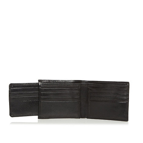 RJR.John Rocha - Designer black leather billfold wallet with ID case