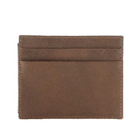 Red Herring - Brown leather double card holder