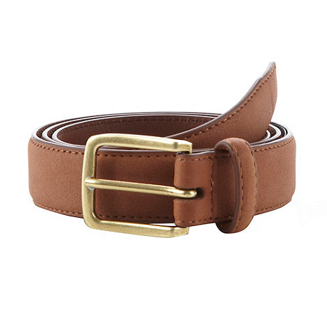 Red Herring - Tan suede skinny belt