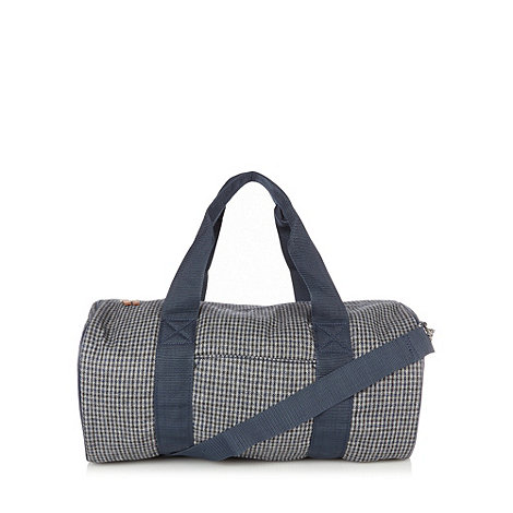 Red Herring - Grey herringbone check holdall
